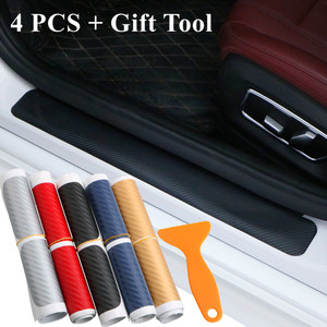 4pcs/Set Car Door Sill Protector Stickers Carbon Fiber Car Stickers and Decals Fit for VW Golf 6 MK6 for BMW E46 E90 for Bmw F10