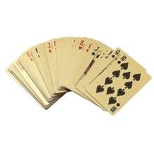 Золотая фольга покера Евро Стиль Пластиковые покерные игровые карты Водонепроницаемая карточная игра