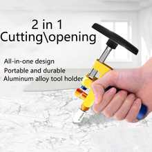 2 in 1 Manual Glass Cutter With Diamond Roller High-strength Ceramic Cutting Machine Tile Opener Set Portable Mirror Cutter Tool