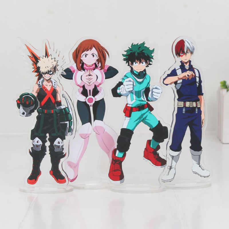 Ochaco Uraraka My Hero Academia All Might Midoriya Izuku Bakugou Katsuki Todoroki Shoto Acrylic Stand Figure Hiro Akadem Toy
