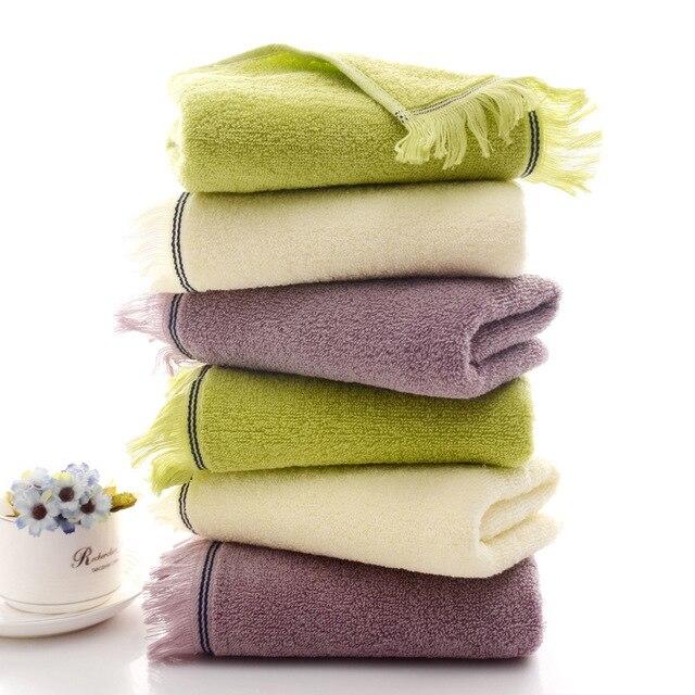 Cotton Towel 33*75cm 110g Pure Cotton Plain Fringe Face Towel Wash Towel