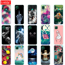 For Huawei P40 Lite Case Soft Transparent TPU Silicon Phone Cover For Huawei P40 Lite E P40Lite Bumper Coque Cat Tiger Fower(China)
