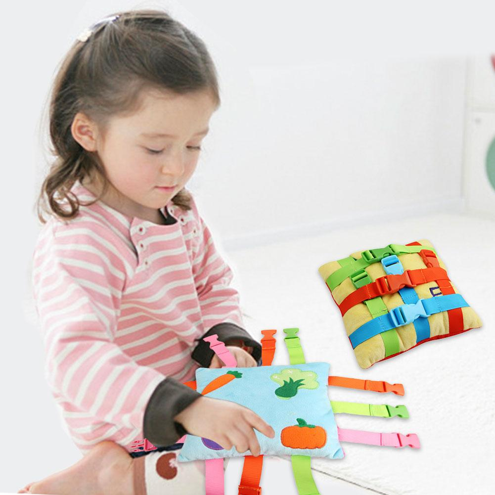 Montessori Toy Baby Basic Life Skill Training Buster Square Toys With Multiple Patterns Cute Toys New Children Early Education