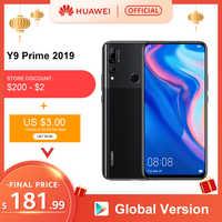 "Globale Versione Huawei Y9 Prime 2019 Smartphone Ai Triple Posteriore Telecamere 4 Gb 128 Gb Auto Pop Up Fotocamera Frontale 6.59 ""Cellulare"