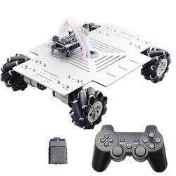 PS2 Bluetooth Arduino контроль 10 кг нагрузки механическое колесо робот автомобиль шасси комплект с 4 шт. 12 В скорость кодировщик двигателя DIY ствол игр...