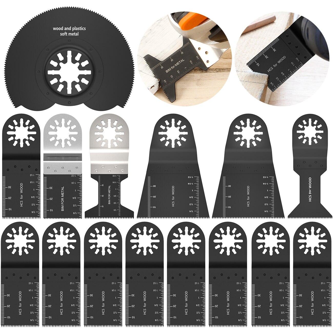 Accesorios Multiherramientas Oscilantes Hojas de Sierra Universales de Acero con Alto Contenido de Carbono Hojas de Sierra Oscilantes de 8 Piezas
