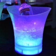 5L Waterproof LED Color Changing Plastic Ice Bucket Bars Nightclubs Beer Bucket