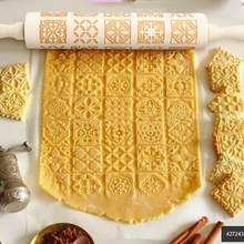 Holz Präge Rolling Pin Fondant Kuchen Teig Cookies Nudel Keks Vintage Muster Gravierte Roller Für Drop Verschiffen