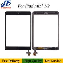10 Chiếc Bảng Điều Khiển Cảm Ứng Remlacement Cho iPad Mini 2 3 1 Bộ Số Hóa Màn Hình Cảm Ứng Trước Màn Hình LCD Kính Hội Với Nhà nút + Keo