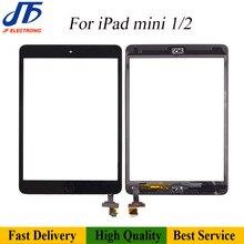 10 pièces écran tactile Remlacement pour iPad mini 2 3 1 écran tactile numériseur avant LCD verre assemblée avec bouton accueil + adhésif