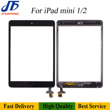10Pcs Touch Panel Remlacement For iPad mini 2 3 1 Touch Screen Digitizer Front LCD Glass Assembly With Home Button + Adhesive