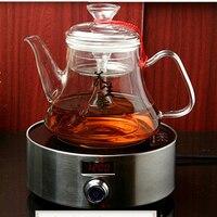 Clear Glass Teapot Open Fire Heating Tea Steam Heat resistant Large Capacity Heat Resistant Milk Teapot Tea Set
