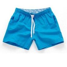 Summer Board shorts men casual solid Mid Beach shor