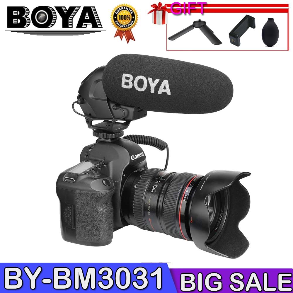 BOYA BY BM3031 Shot gun Microphone Super Cardioid Condenser Studio Video Interview Mic for Nikon Canon Sony DSLR Camera Microphones     - title=