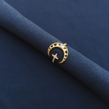 cheny s925 sterling silver February new golden yellow star moon hollow ring female fashion light luxury