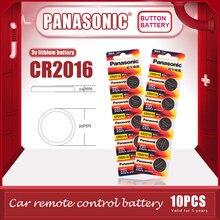 10 ピース/ロットパナソニックオリジナルCR2016 ボタン電池 3vリチウム電池cr 2016 時計のおもちゃコンピュータ電卓制御