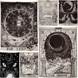 Лучшее качество The Moon гобелен, расшитый звездами на стене, Гадания и предсказания покрывало пляжный коврик 95x7 3/150x10 0/150x130