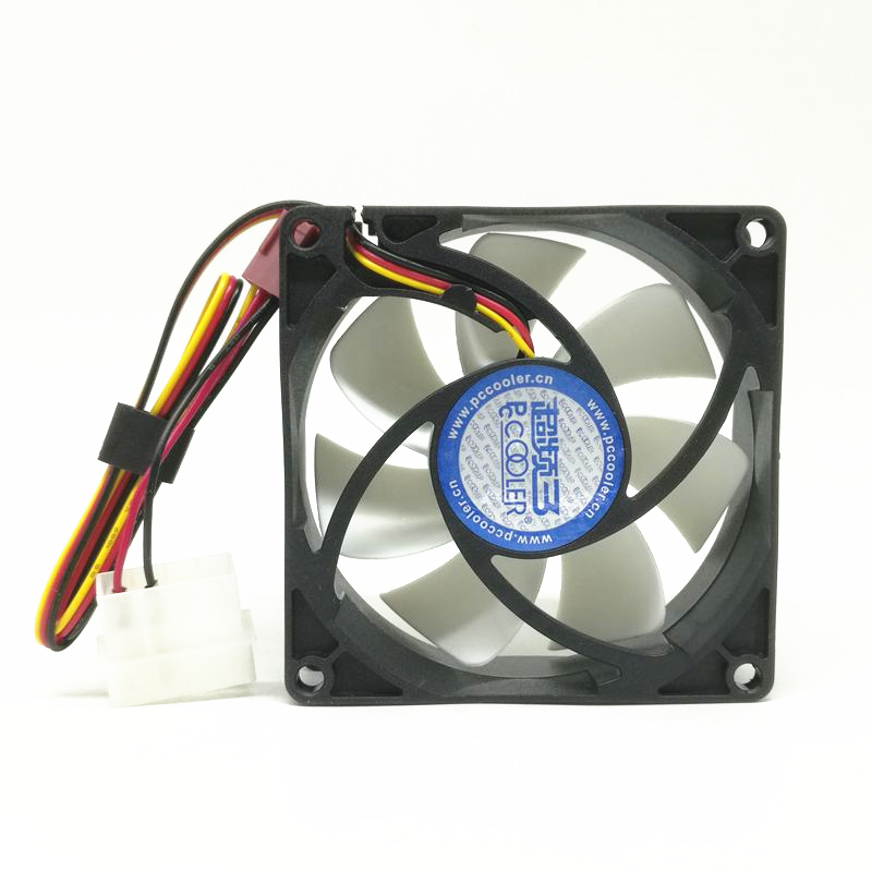 New Hydro bearing DC12V Silent <font><b>80MM</b></font> 8025 80*80*25MM 8*8*2.5CM chassis <font><b>fan</b></font> Computer case <font><b>fan</b></font> <font><b>3pin</b></font> and 4D image