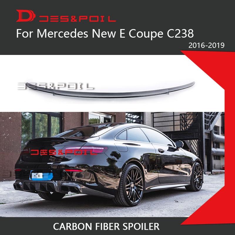 For Mercedes Benz E Class W238 C238 Coupe Carbon Fiber Rear Spoiler 2016-2019