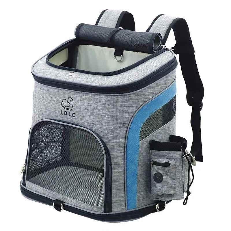 Anjing Tas Bernapas Anjing Ransel Besar Kapasitas Kucing Membawa Tas Portable Outdoor PET Carrier L