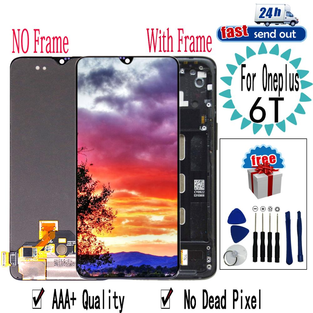 6.41'' 1+6T AMOLED LCD For Oneplus 6T LCD Display A6010 A6013 Touch Screen Digitizer Assembly Replacement For Oneplus6T