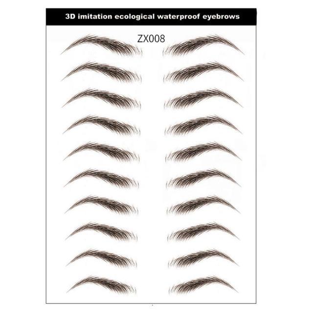 9 Style 4D Eyebrow Stickers Semi-permanent Tattoo Eyebrow Waterproof Lasting water transfer imitation bionic brow stickers TSLM1 5