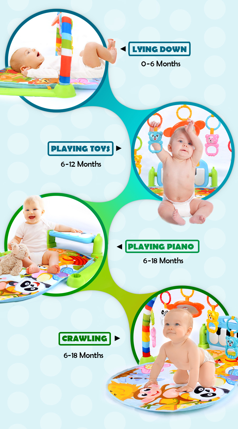 Hf5c35944e1e2498997071cd1454cb8fbP 16 Styles Baby Music Rack Play Mat Kid Rug Puzzle Carpet Piano Keyboard Infant Playmat Early Education Gym Crawling Game Pad Toy
