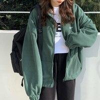 Sudadera con capucha de lana para mujer, ropa de calle de gran tamaño con cremallera, chaqueta con bolsillos sólidos, cuello vuelto, prendas de vestir, moda de otoño