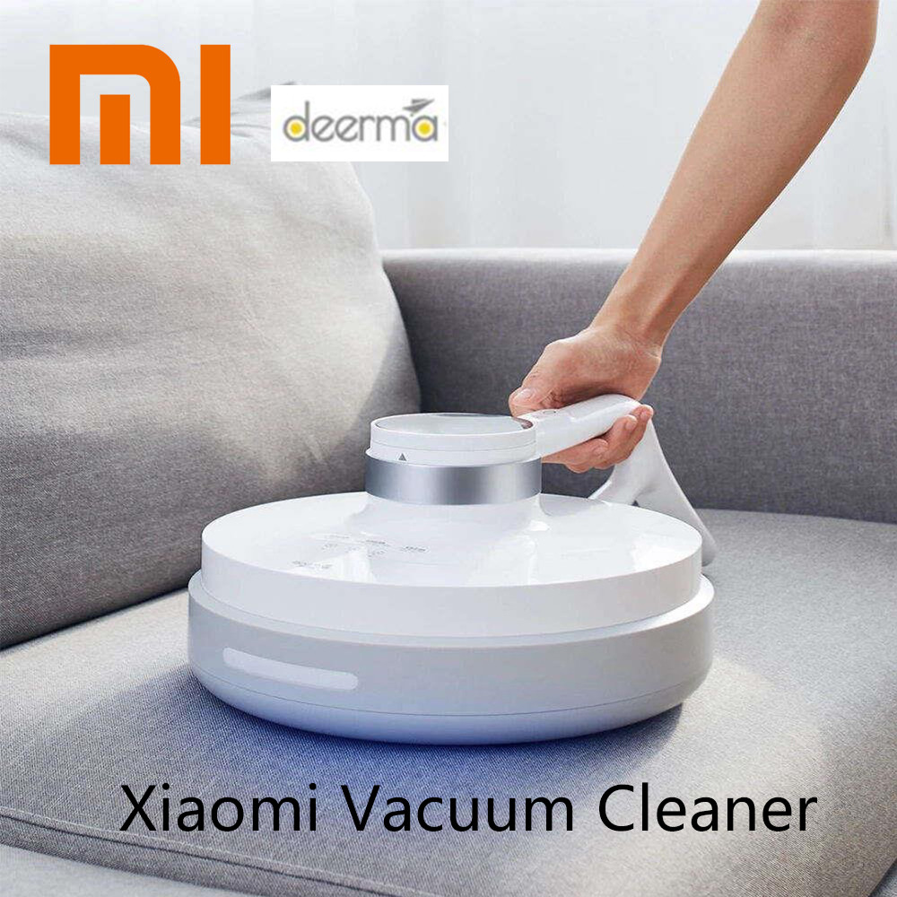 Xiaomi Deerma Wireless Handheld Vacuum Cleaner Light Heat Mites Controller Sterilization Six-fold Mite-killing 2500mAh Battery