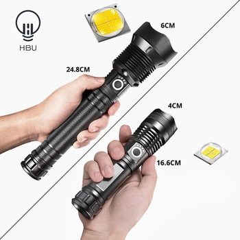 Flashlight LED powerful USB Rechargeable light XHP70.2-50 Camping lantern Tactical fashlights 18650 battery headlight torch