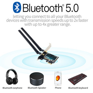 Image 3 - デスクトップワイヤレスpcie無線lanアダプタインテルWifi6 AX200デュアルバンド9260NGW ac bluetooth 5.0 2.4グラム/5グラム802。11ac/ax MU MIMO windows 10