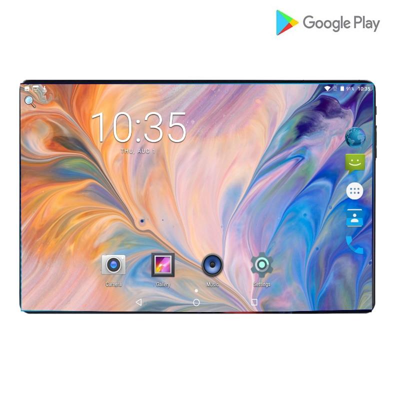 2019 New10 pouces tablette PC Octa Core Android 9.0 WiFi double cartes SIM 4G LTE tablettes 10.1 6GB RAM 64GB ROM + 64G carte mémoire cadeau