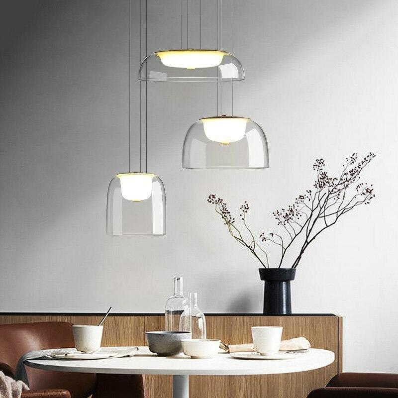 Modern Glass Pendant Lights Dining Room Living Room Kitchen Nordic Hanging Lamp Simple Hanglamp Home Decor Light Fixtures Home