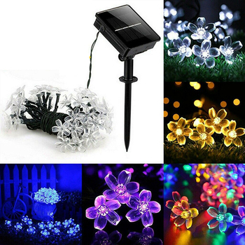 LED Solar Light Waterproof Fairy Garland Lights 50 Led String Outdoor Holiday Christmas Party Wedding Solar Lamp Decor led string lights 100m 800leds holiday light outdoor decor lamp for party wedding garden christmas fairy