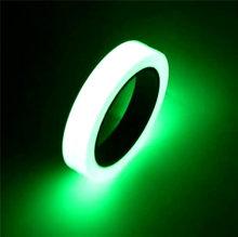 1.5cm * 1m luminosa fluorescente noite auto-adesivo brilho no escuro adesivo fita de segurança de segurança decoração para casa fita de advertência