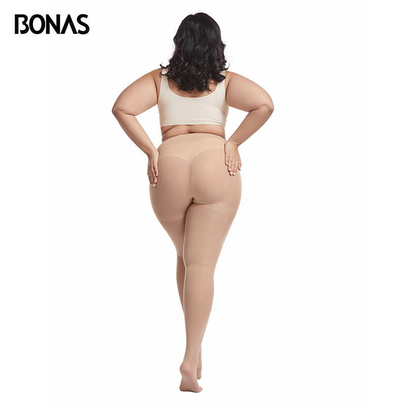 Bonas 80Dタイツプラスサイズ 100 キロベルベットストッキング暖かい弾性スパンデックスにくい女性のストッキングcollantファムセクシーなトップ 3XL