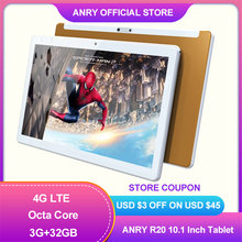 ANRY Android Tablet 10 Inch Octa Core WiFi Tablet 4G Anruf 32GB ROM Tablet Pc MTK6737 Google spielen Android 8,1 Dual Kamera