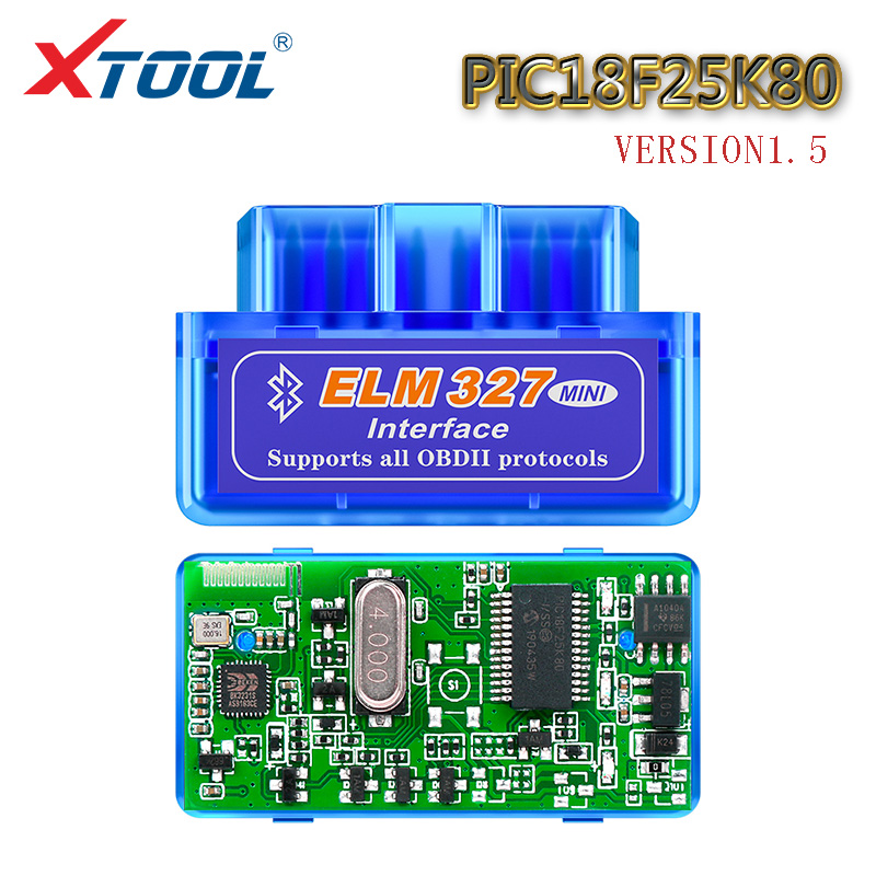 XTOOL 2020 ELM327 Bluetooth V1.5 PIC18F25K80 Chip OBD2 Car Scanner Auto Diagnostic Tool OBD Code Reader For Android One Board