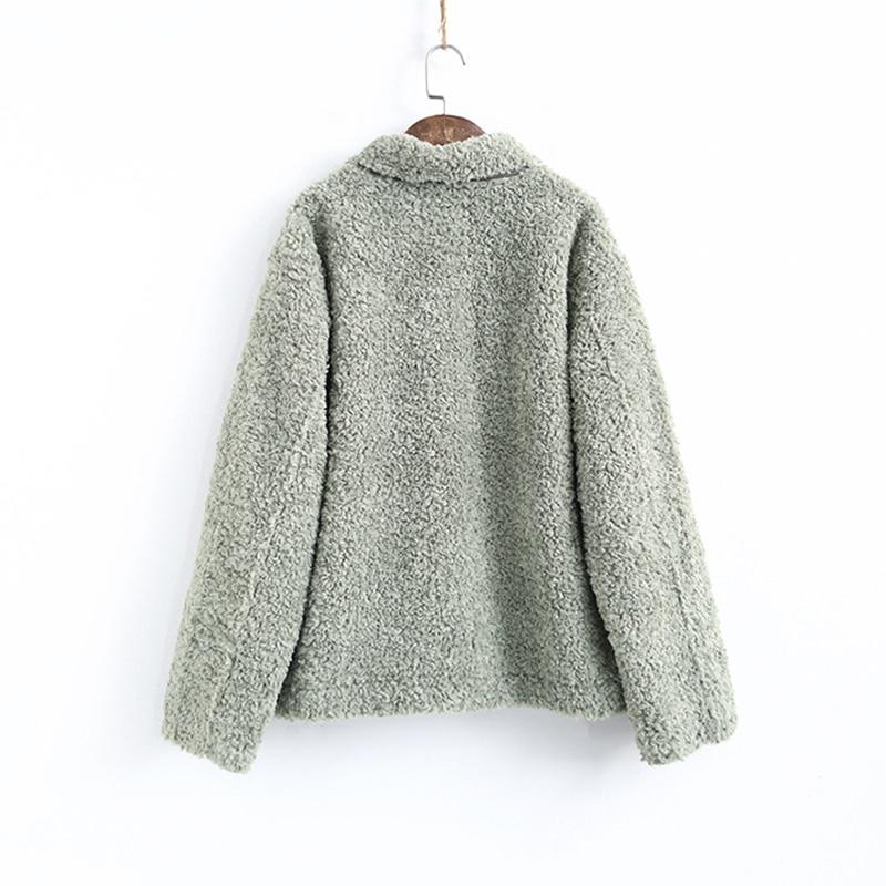 Koreaanse Dikke Lam Wol Jassen Vrouw Kleding Vintage Plus Size Winter Jas Vrouwelijke Warme Jas Vrouwen Jassen Tops Ll006 - 5