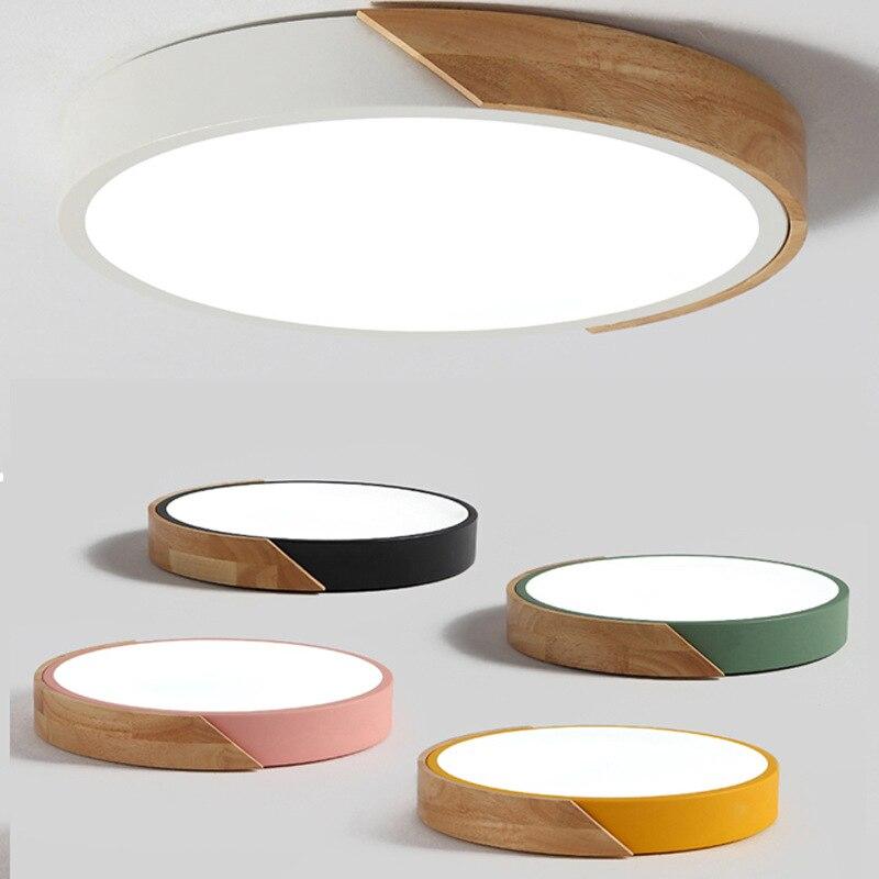Светодиодный потолочный светильник с регулируемой яркостью, в скандинавском стиле, для гостиной, круглой, многоцветной, из сплава, для спал