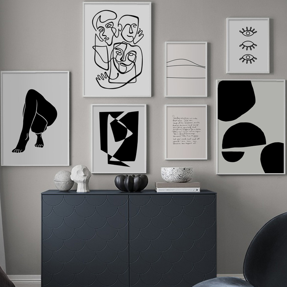 Ffa4f Abstract Body Art Prints Minimalist Line Nordic Posters And Prints Wall Art Canvas Painting Wall Pictures For Living Room Decor