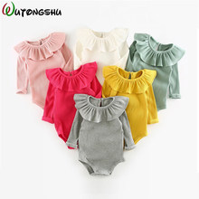 Baby Girl Clothes Bodysuits Bebe Coveralls Infant clothing Lace Newborn Romper Winter Girl Long Sleeves new born baby Clothes(China)