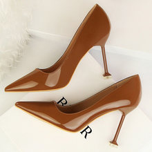 2020 Fashion 9.5cm High Heels Women Nude Pink Pumps Female Classic Sexy Wedding Bridal Pumps Escarpins Fetish shoes(China)