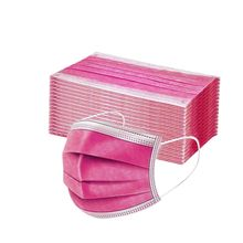 10/200 pces mulher homem máscara sólida descartável máscara facial 3ply orelha loop Anti-PM2.5 máscara descartável máscara protetora rosa mascarillas