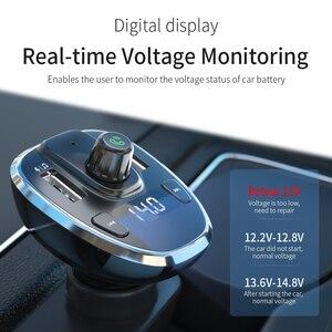 Image 5 - Essager USB شاحن سيارة سماعة لاسلكية تعمل بالبلوتوث 5.0 سيارة عدة يدوي FM الارسال MP3 سريع شاحن آيفون شاومي الهاتف المحمول
