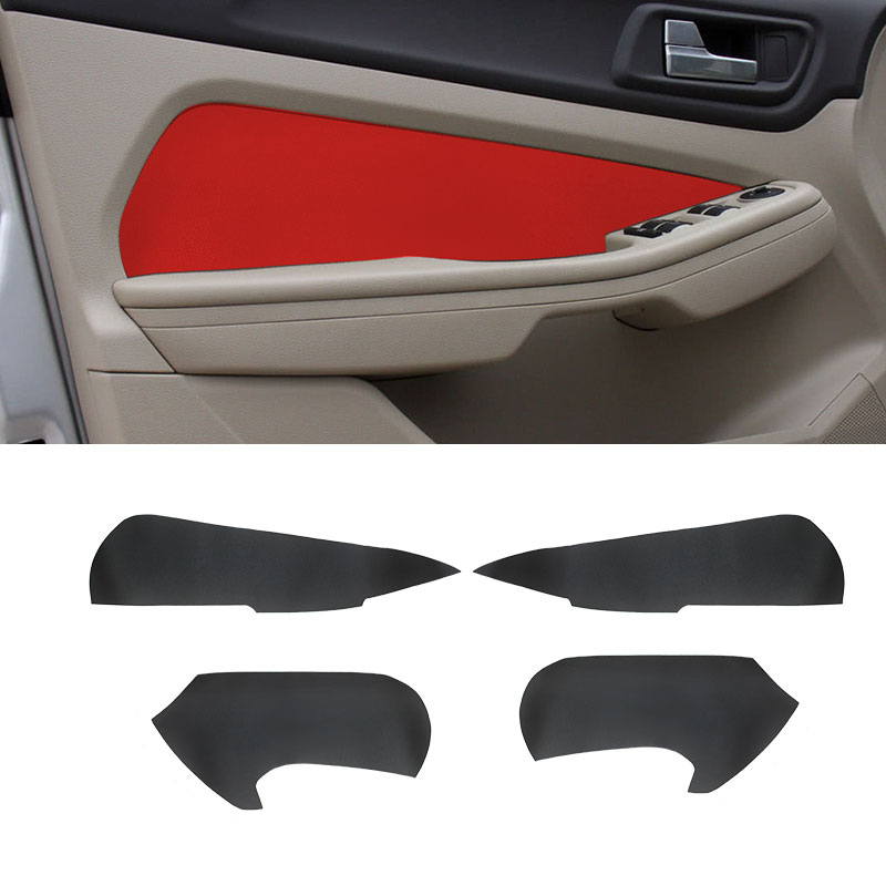 For <font><b>Ford</b></font> <font><b>Focus</b></font> 2009 <font><b>2010</b></font> 2011 2012 2013 2014 4pcs Microfiber Leather Car Interior Door Handle Armrest / Door Panel Cover Trim image