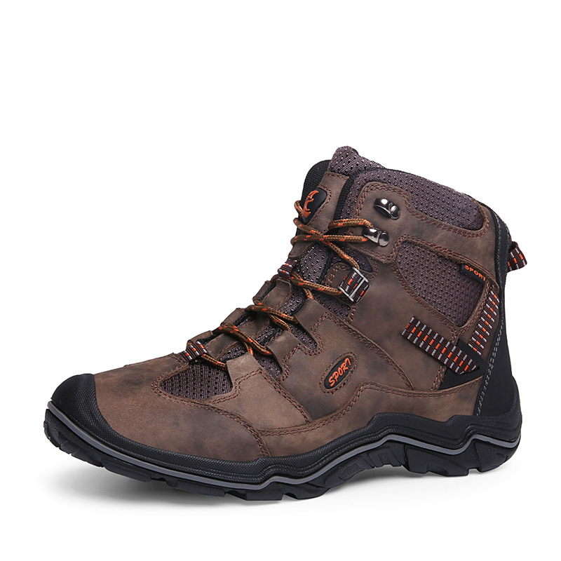 Waterproof Shoes Trekking-Head Hunting Men Safety High-Gang Quality Large-Size Men's
