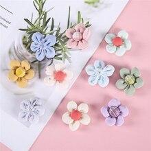 10Pcs/Lot Summer Solid Fabric Five-Petal Flower Applique Crafts For Girl Garment Hair Clip Accessories Sock Bag Decoration Patch