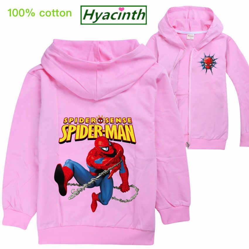 Spiderman kinder jacke mädchen mantel Kind Mode Kleidung cartoon Mit Kapuze Outfits Jacke Jungen Batman Sweatshirt baby jungen kleidung