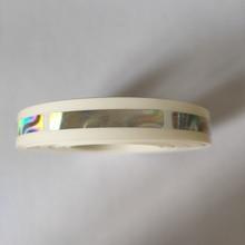 1000 pces/rolo 6x40mm bonito holograma laser scatch fora da etiqueta para o jogo do cartão de jogo ou do casamento